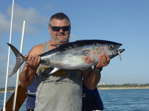 Blue Fin tuna fish caught on SV Thorfinn whilst sailing to Victoria from Adelaide