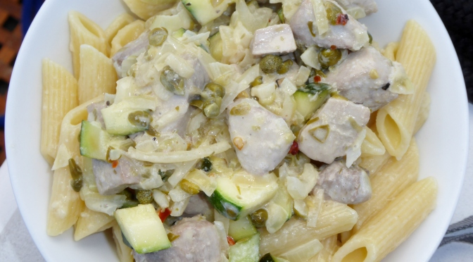 Pasta made with fresh tuna caught in South Australia