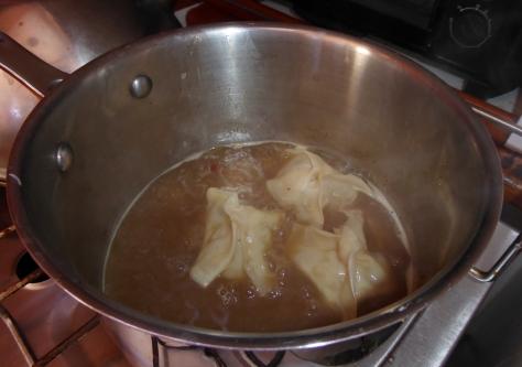 Simmer the dumplings