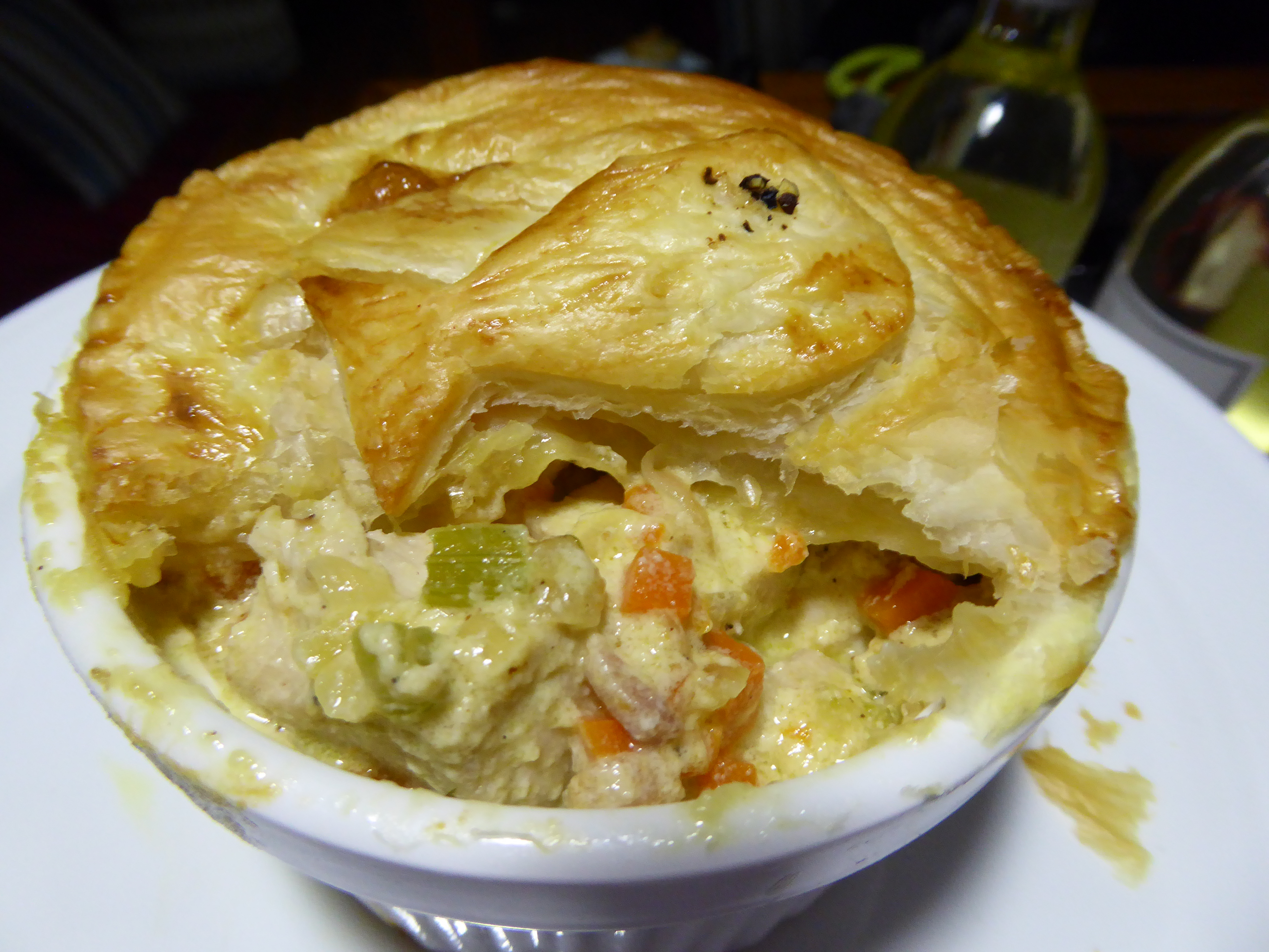 Marlin pies ready to east. Delicious marlin filled pie with puff pastry
