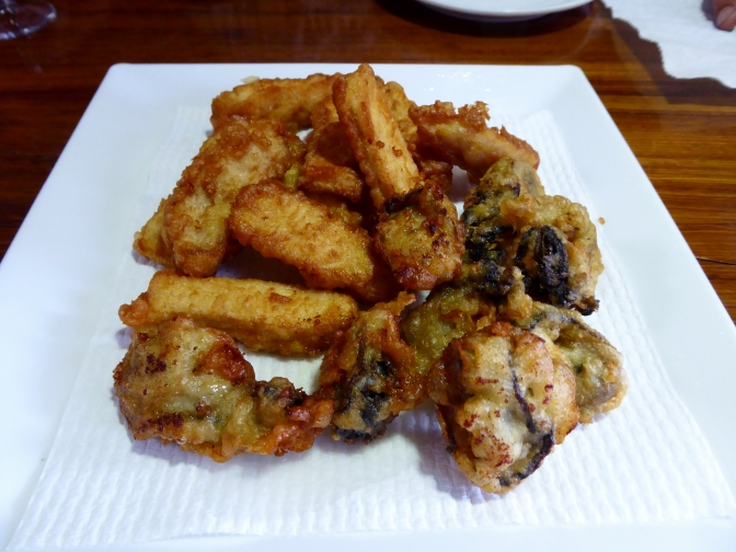 Beer Battered Marlin Fingers and Oysters