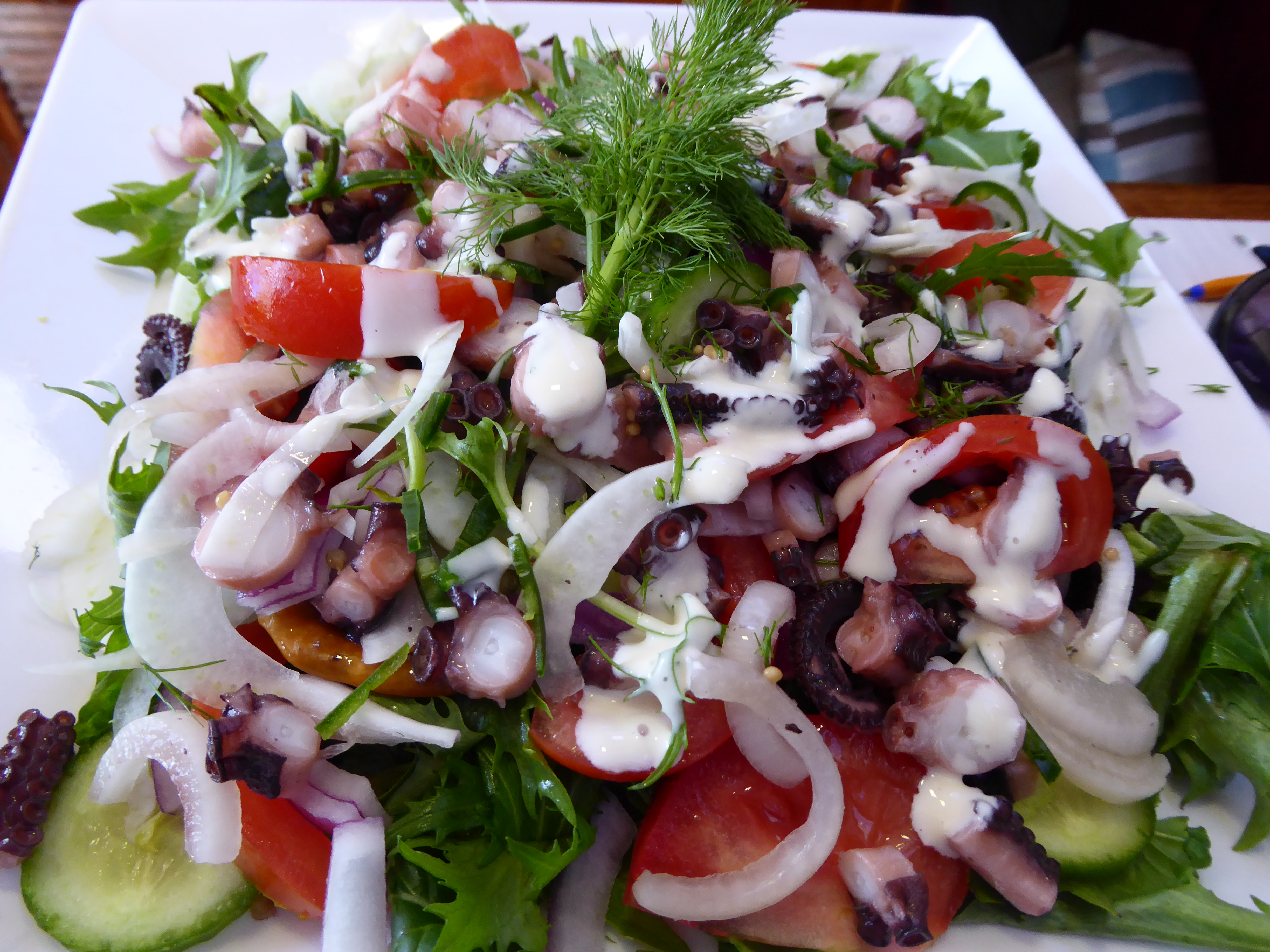 Pickled Octopus Salad with Lime Aioli