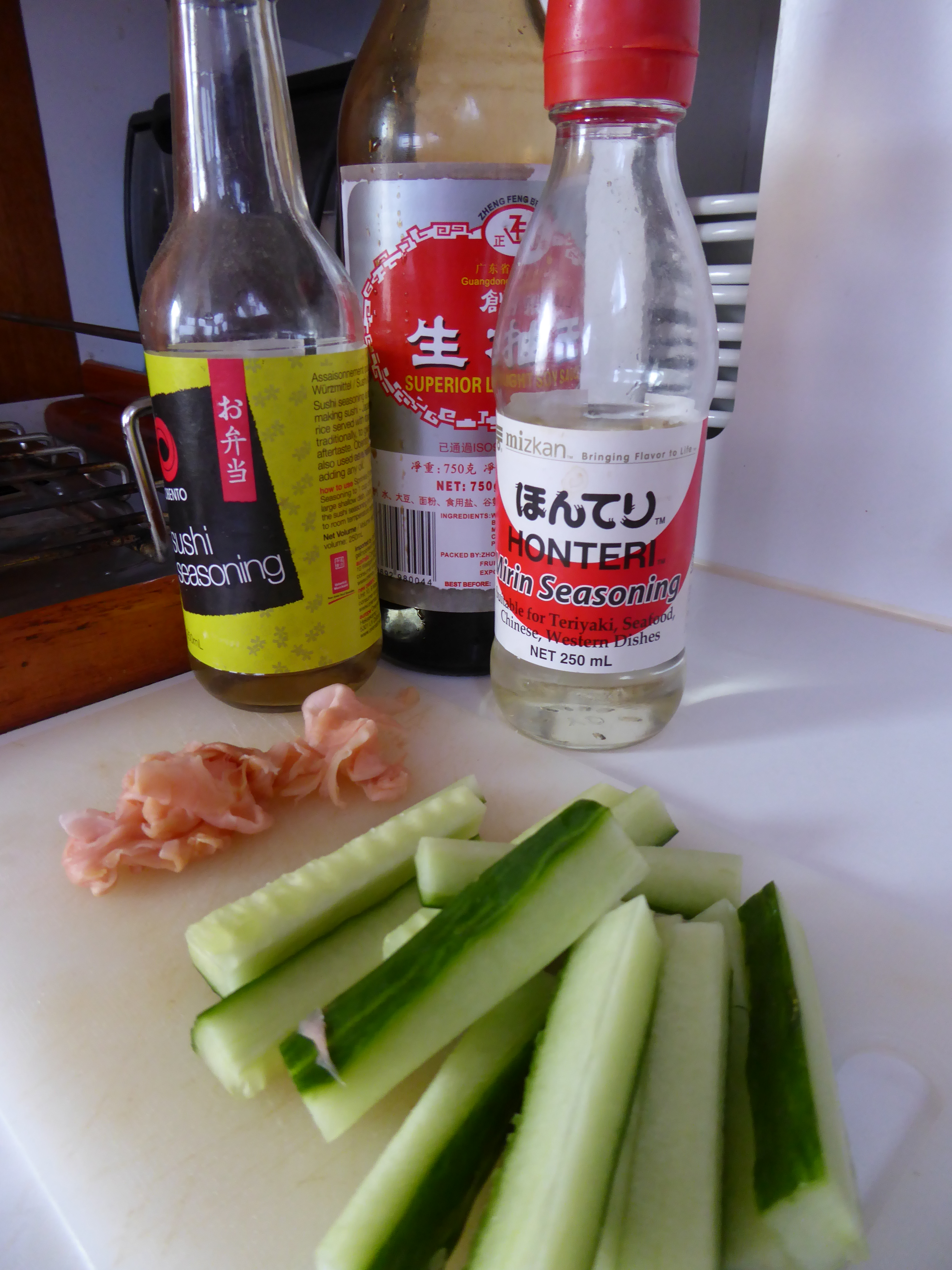 sushi seasoning, mirin dressing