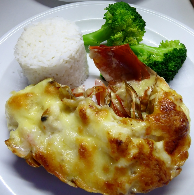 Made with a crayfish caught on the Great Barrier Reef this delicious creamy mornay was so yummy.