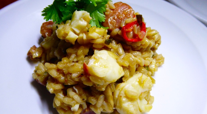 Spicy Crayfish Risotto