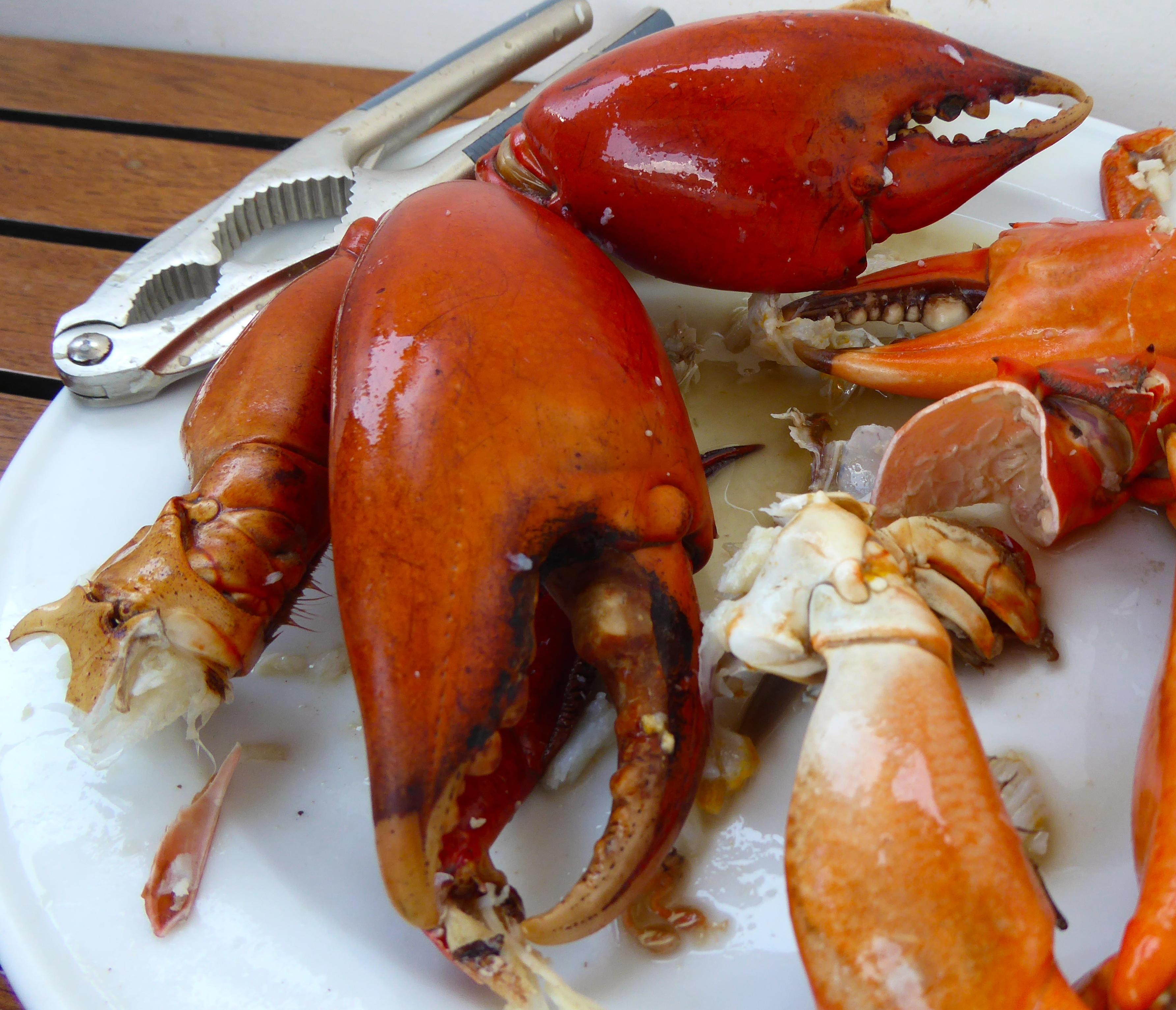 Prepared mud crabs