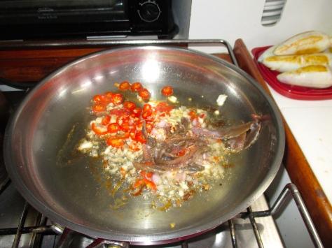 Shallots, garlic, chilli and lots of anchovy!