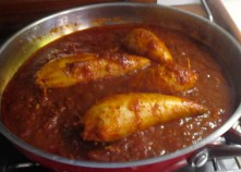 Stuffed Squid in a Rich Tomato Sauce