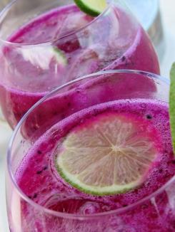 Purple Dragon Cocktail!, vodka, tequilla, dragon fruit, cointreau, lime