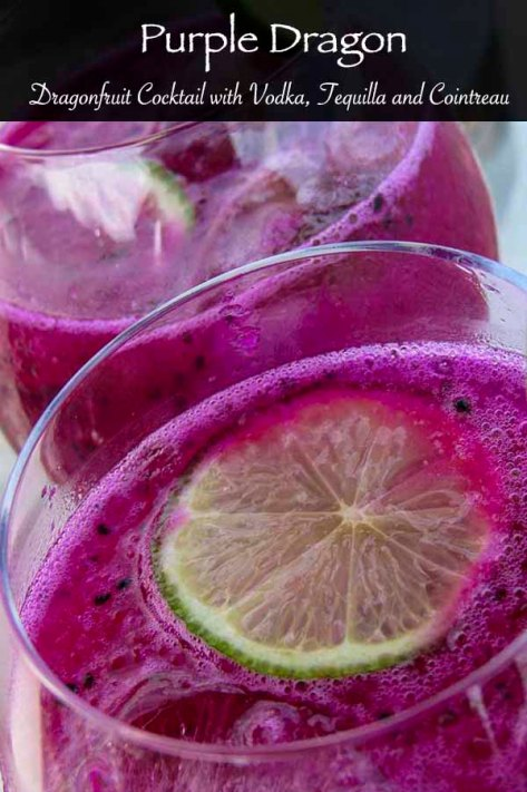 Cocktail with red dragonfruit #tequila #vodka #cointreau #lime #dragonfruit #cocktail #drink #alcohol