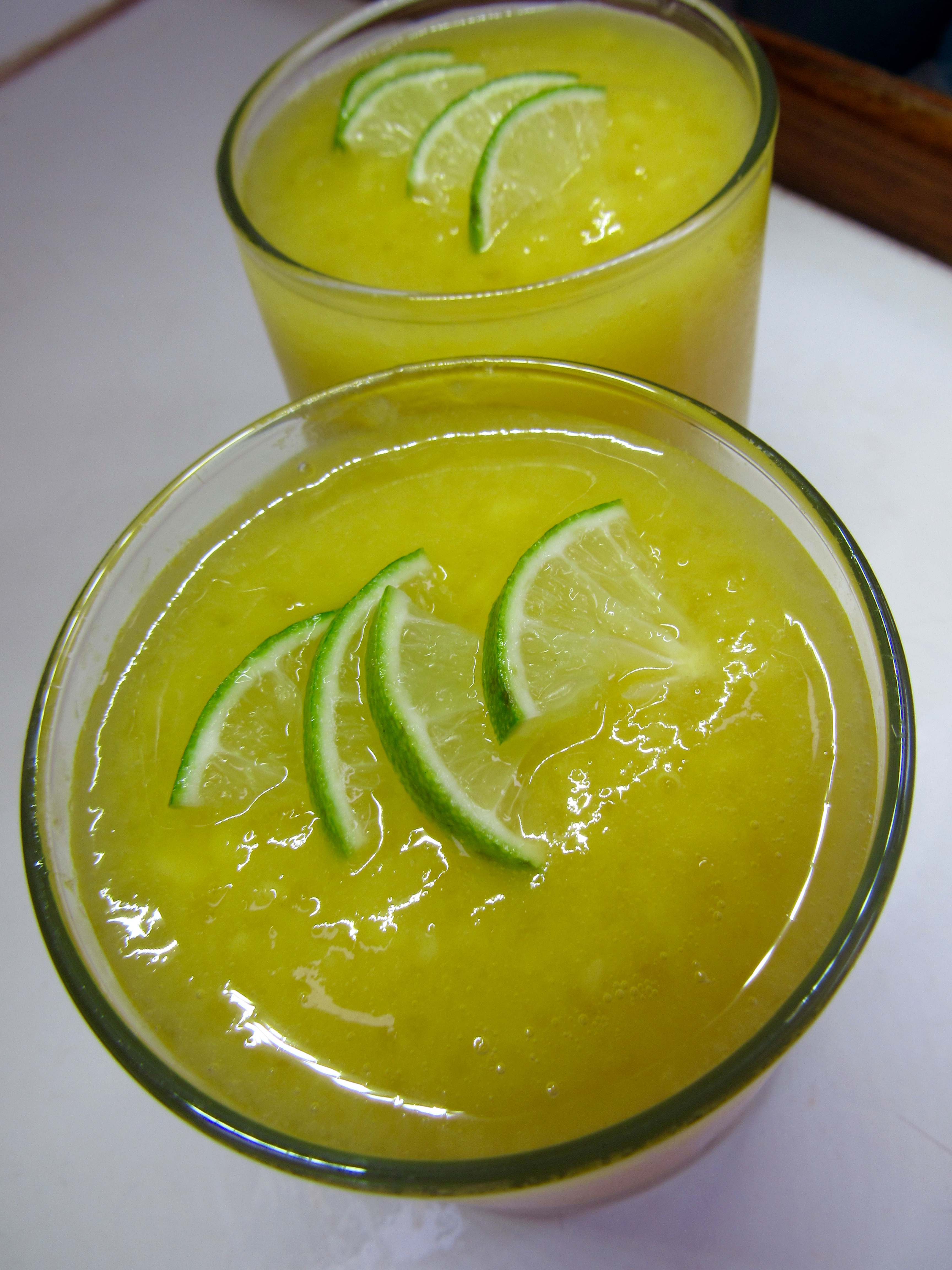 Mango Margarita, vodka, tequila and frozen mango