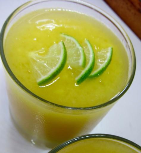 Mango Margarita, frozen mango