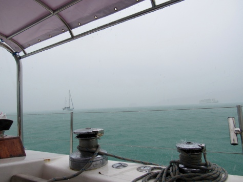 Monsoon wether in Ao Chalong where we are anchored