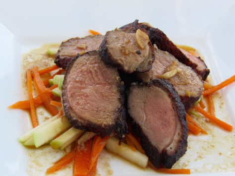 Crispy Skin Duck Salad - this one I made for Hellen and Phil for their anniversary.