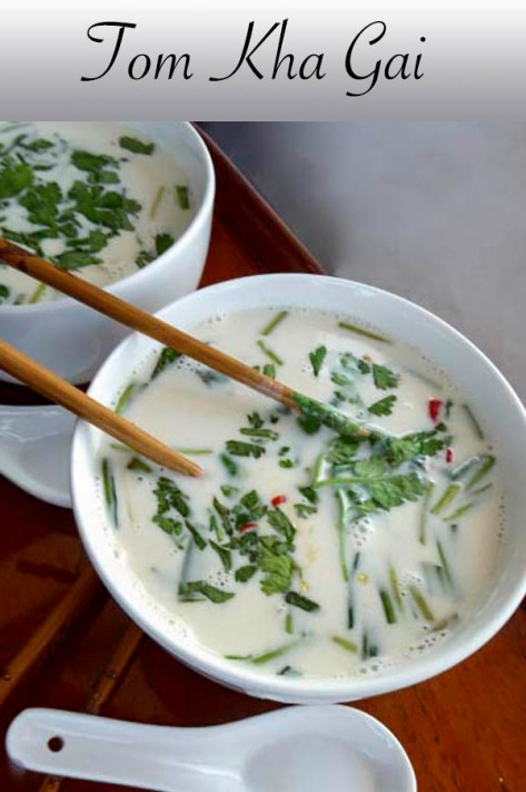 Tom Kha Gai  - Thai Chicken and Coconut Soup. #chicken #coconut #coriander #galangal #thai #asian #dinner #lunch #lemongrass #mushroom #chilli #soup #recipe