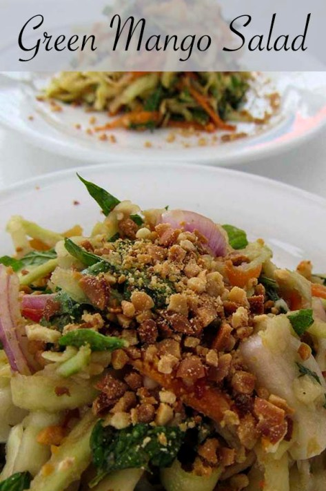 Green Mango Salad  #mango #mint #basil  #redonion #shrimp #nuts #chilli #recipe #lunch #dinner #asian #cambodia