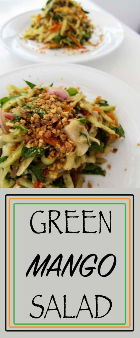 Cambodian style green mango salad. delicious fresh and full of herbs