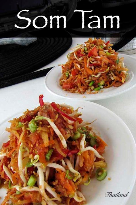 Som Tam - Thai papaya salad #papaya #beansprouts #springonions #capsicum #pepper  #recipe #salad #lunch #dinner #thai