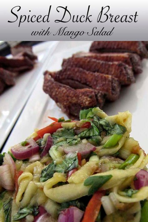 Spiced Duck Breast with Mango salad #crispyduck #zestysalad #mango #mint #recipe  #dinner #luncg #easyrecipe