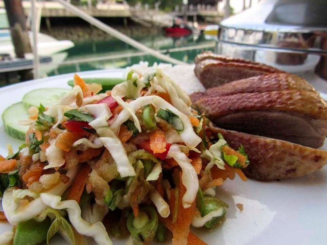 Tea Smoked Duck with Asian Style Salad