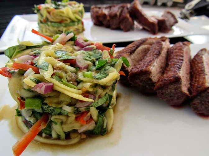 Spiced Roast Duck Breast with Mango Salad