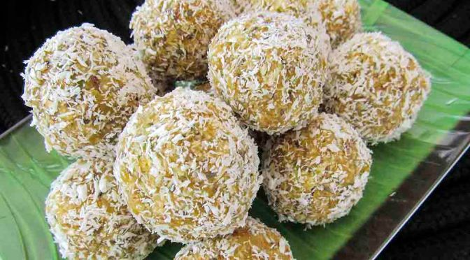 Apricot and Coconut Bliss Balls