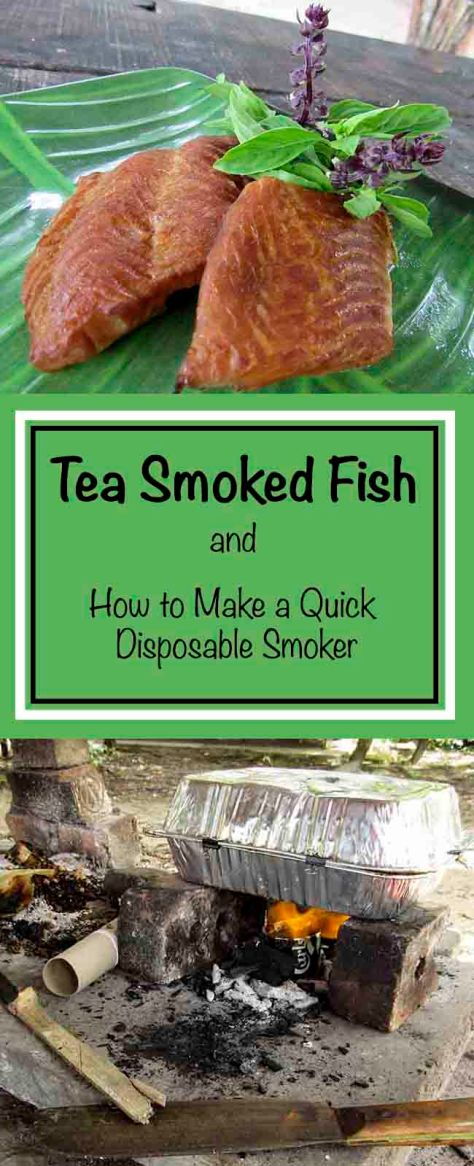 Tea Smoked Fish and how to make a quick disposable smoker!