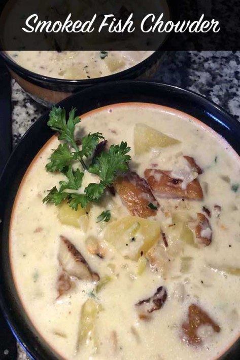 Smoked fish chowder #recipe #dinner #soup #fish #chowder #creamy #potato #smoked #smokedfish