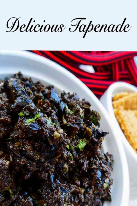 Delicious Tapenade with black olive, anchovy and capers