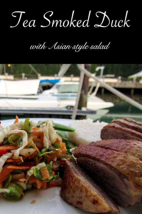 Tea smoked duck with Asian style salad #recipe #duck #salad #smoked #teasmoked smoked duck with Asian style salad