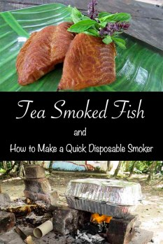 Tea Smoked Fish and How to Make a Disposable Smoker