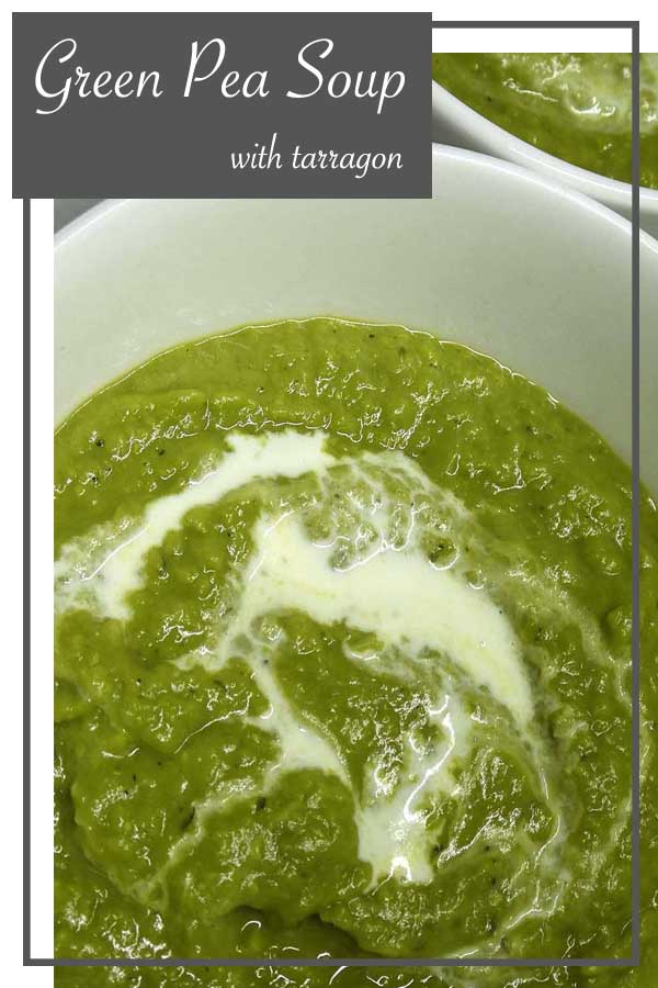 green peas soup tarragon recipe