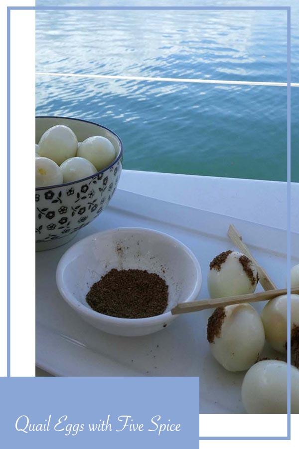 recipe quail eggs five spice finger food