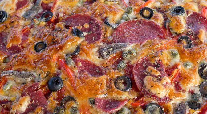 Delicious Salami Pizza