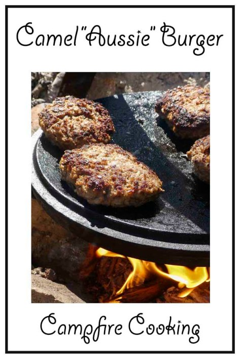 Campfire cooking Aussie burger recipe