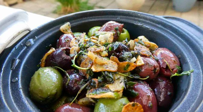 Spicy Herb Olives