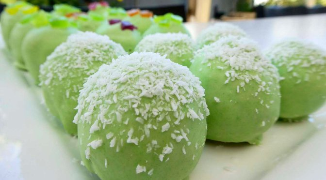 Coconut & lime bliss balls